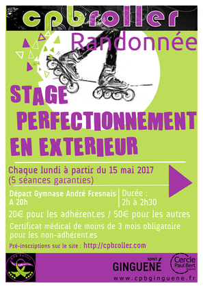 Stage perfectionnement 2017